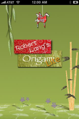 Screenshot Robert Lang's Origami Lite